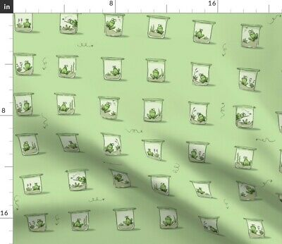 Frog Boy Animal Terrarium Insect Mulberry Tree Fabric Printed by Spoonflower BTY