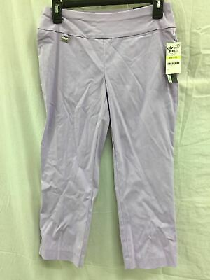 Alfani Women's Petite Pull On Capri Pants Lilac 8P