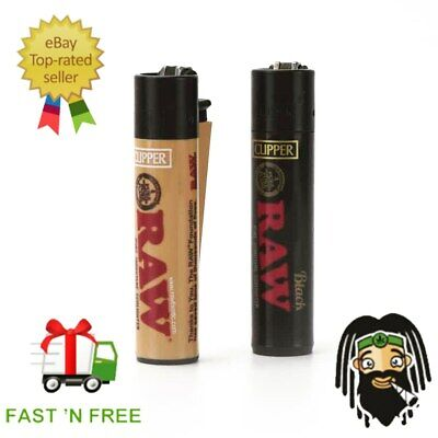 RAW Clipper Lighters Gas Lighter Refillable Flint | RAW Smoking Papers