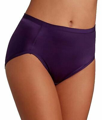 Vanity Fair Women's Body Caress Hi Cut Panty 13137, Blackberry, 7