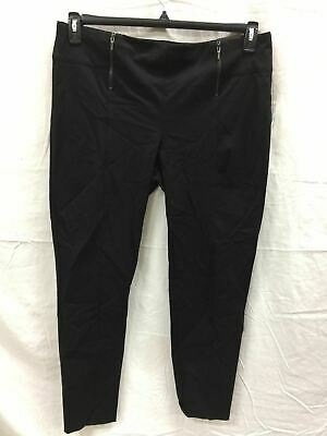 Alfani Double-zip Skinny Pants Deep Black 16