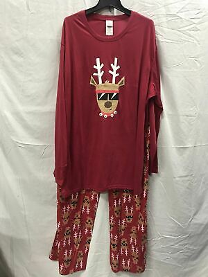 Toast & Jammies Reindeer Pajama Set Red 2X