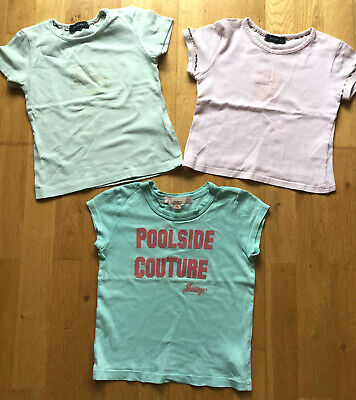 Orig. BURBERRY & Juicy Couture 3er Set T-Shirts Gr 104, Sommer Shirt / Top, rosa