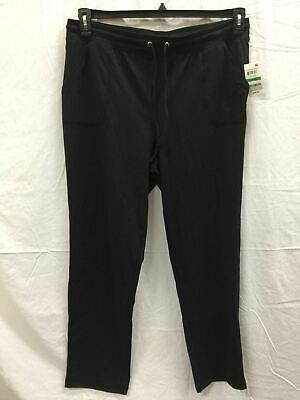 Karen Scott Pull-On Drawstring Pants Deep Black L
