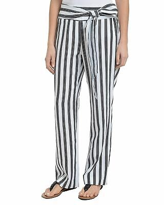 NY Collection Elastic Waistband Tie Front Pants L