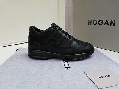 Scarpe Hogan N.41 (7) ORIGINALI Uomo Interactive Shoes Men Size Pelle nere