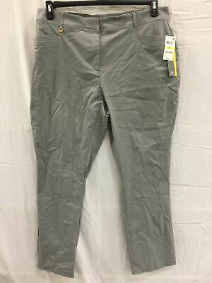 JM COLLECTION Square Curvy Rinse Regular Pants Med Gray 20W