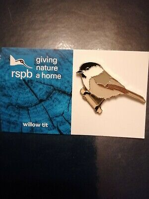 Rspb pin badge willow tit