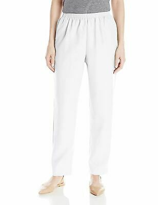 Alfred Dunner Pull On Pants White 14P