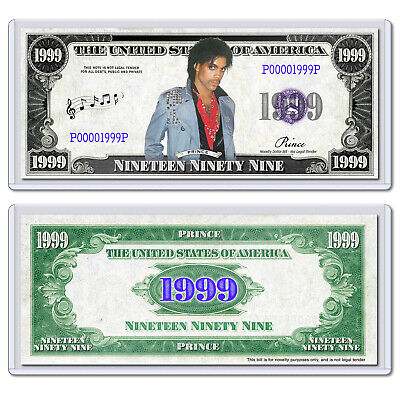 Prince Party Like It's $1999 Dollar Bill Music Collectible with Case