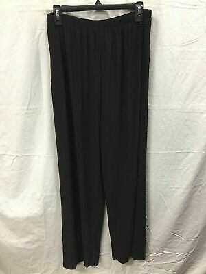 R&M Richards Wide Leg Stretch Pullon Pant Black 16 -New Without Tag 3648