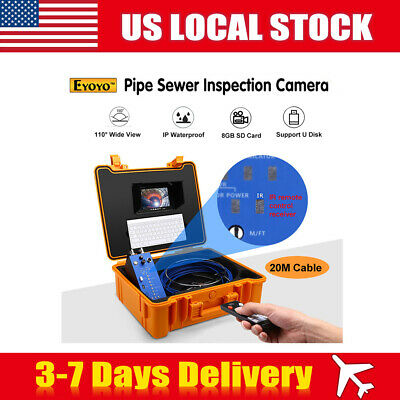 Eyoyo 1MP LCD DVR 20M Drain Sewer Industrial Endoscope Camera Remote Monitor