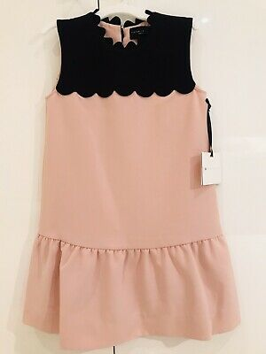 Victoria Beckham Dress - Drop Waist Scallop Trim Girls Dress Size Small BNWT