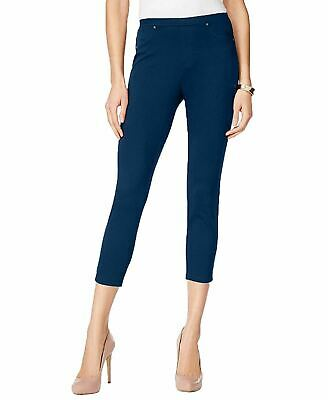 Style & Co. Women's Pull-On Twill Capri Leggings, Industrial Blue, Large