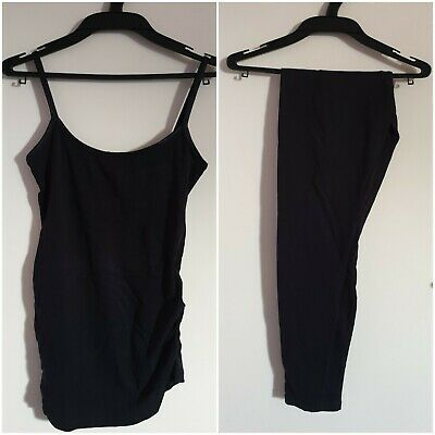 New Look Maternity Black Singlet and Leggings, Size 8