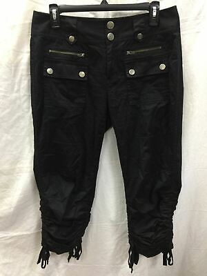 Inc Ruched Tie Capri Pant Black 6 - New Without Tag 6226