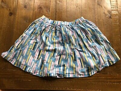 MINI BODEN crayons Girls Skirt Blue/ Pink/yellow 7-8 Years