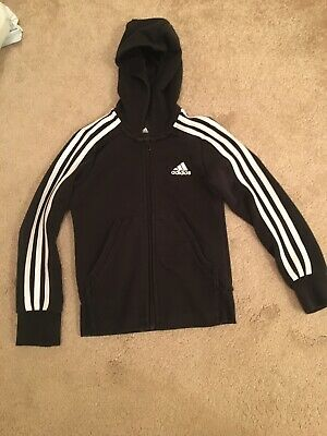 Kids Adidas Hooded Zip Up Jacket Aged 7 To Aged 8