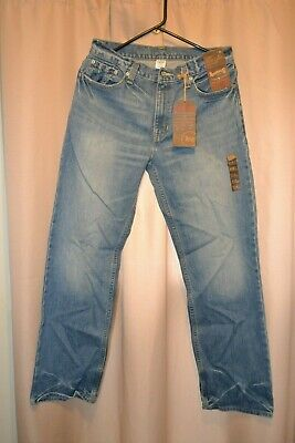 NWT Mens Roebuck & Co Relaxed Fit Straight Leg Zip Fly Denim Jeans 30 x 30