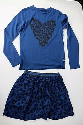 stella mccartney Kids Blue Outfit Skirt Age 14 Years Top Age 12 Years Vgc