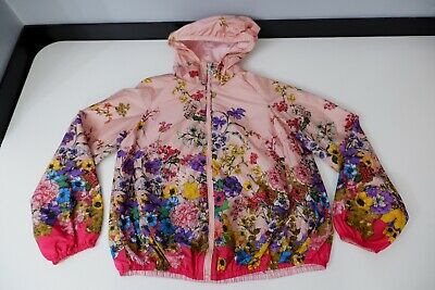 moncler Lightweight Jacket Coat Age 12 Years Vgc Pink With Flowers