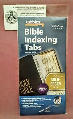 Bible Indexing Tabs- Gold-Edged- Includes Catholic Books-Made In Usa By Tabbies