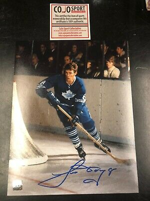 Jim Dorey Autographed Picture 8x11 With COA Cojo Sports Toronto Maple Leafs