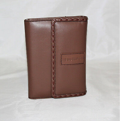 Cover Agenda Genuine Leather Brown Soft Port Weave Woman 4 5/16x6 1/2in