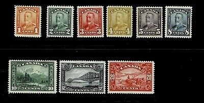 Canada KGV Scroll issue #149-157 MNH Except #153 MLH
