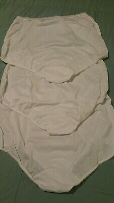 Vintage Granny Panties Panty Lot Silky Sheer White Nylon Sissy NOS  Sz 9 Sears