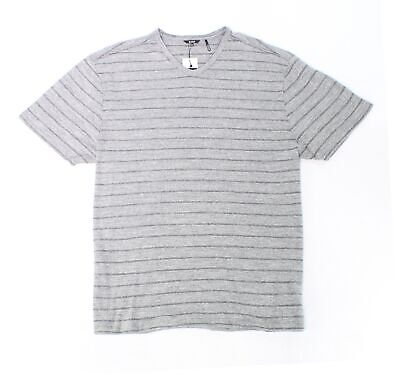DKNY NEW Excalibur Gray Mens Size Small S Striped V Neck Tee Shirt $49 #197