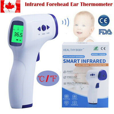 LCD Non-Contact IR Infrared Digital Forehead Fever Thermometer fr Baby Adult US