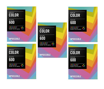 Polaroid Originals Instant Color Film for Color Frames (600 Camera) 5-Pack