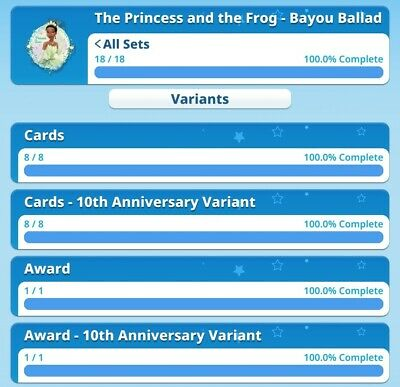 Bayou Ballard 10th Anniversary Both Full Sets With Awards By Topps Disney...