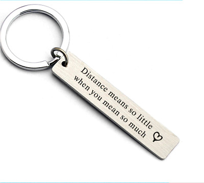 Distance Means So Little Keychain Keyring friendship friends bff long distance