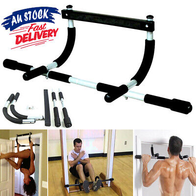Door Pull Up Bars Exercise Fitness Bar Chin Up  Situp Dips Gym Workout ACB#
