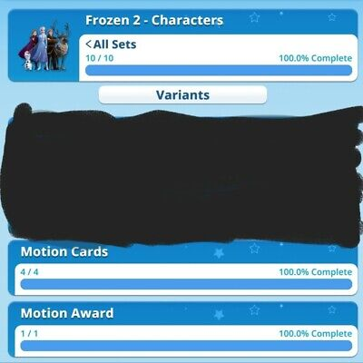 Frozen 2 Character Motion Full Set With Award By Topps Disney Collect Digital...