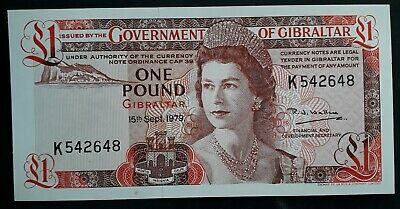 SCARCE 1979 Government of Gibraltar £1 Banknote P 20b UNC