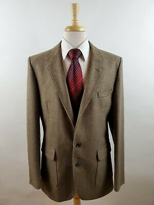 Vtg Dunn & Co Great Britain Wool Blend Tweed 2 Butt Sport Coat Jacket Men's 40R