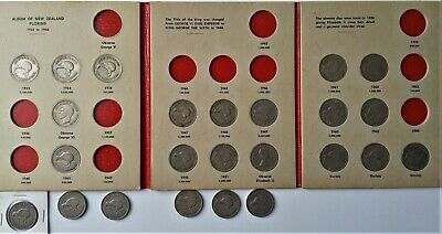 24 Silver New Zealand Florins, coins from most years & duplicates