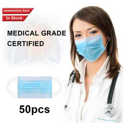 10/20/50pcs Disposable FaceMask SurgicalMedical Dental Industrial 3 Ply EaLoo SR