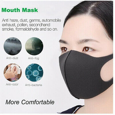 1~50Pcs Washable Earloop Mask Anti Dust Mouth Face Mask Surgical Respirator SR