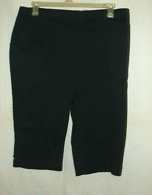 Women's Croft & Barrow Navy Pull On Mid Rise Skimmers - Size XXL - NWT