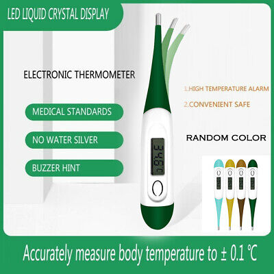 Flexible Tip Digital LCD Thermometer Medical Baby Adult Oral Body Temperature