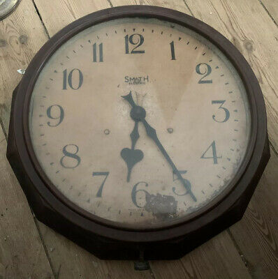 Vintage Retro Smiths Bakelite Wall Clock Industrial School Office Large Electric