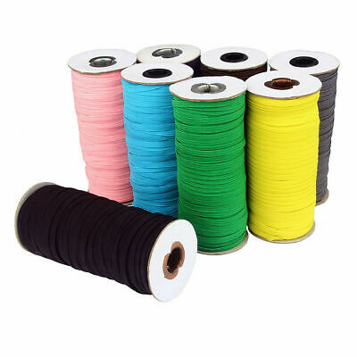 100 Yards Elastic Rope Band Rubber Tape Ear Hanging Face Shield DIY 6/9/12mm