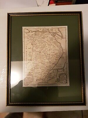 Antique Map Of Lincolnshire by Thomas Kitchen professionally mounted and framed