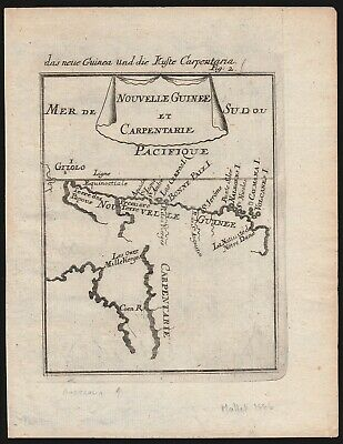 AUSTRALIA original antique map New Guinea & Gulf of Carpentaria from year 1686 !