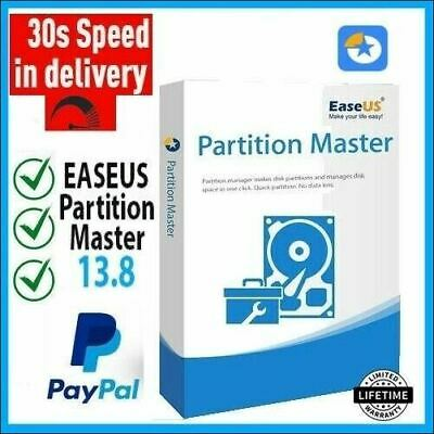EaseUS Partition Master 13.8 Pro Lifetime Activated Full Version Fast Delivery🔥