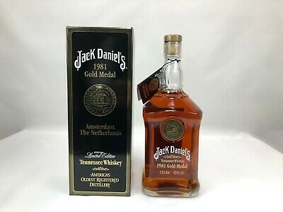 47) JACK DANIELS 1981 Gold Medal TENNESSEE WHISKEY 1000ML/43,0%Vol.Alc. USA